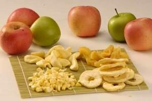 Вяление яблок