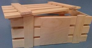 Деревянный ящик для хранения кабачков