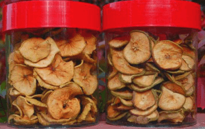 Хранение сушеных яблок дома
