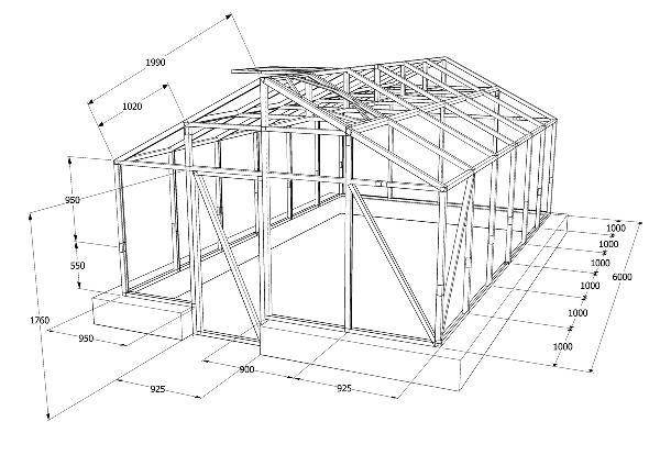 Как самостоятельно построить теплицу из металлического уголка