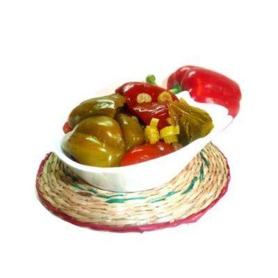 ВКУСНЕЙШАЯ ЗАКУСКА — маринованный перец, фаршированный капустой (постный рецепт)
