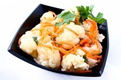 Рецепты цветной капусты по-корейски: как замариновать капусту быстрыми способами и консервирование на зиму
