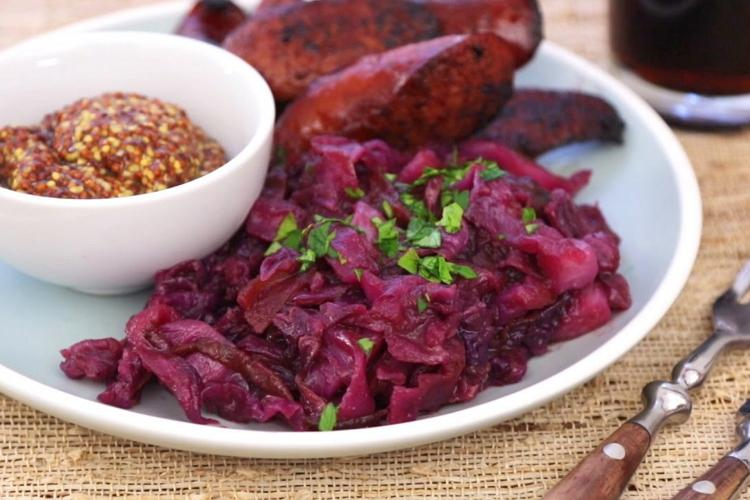 Тушеная красная капуста, пошаговый рецепт с фото