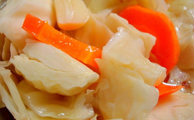 Как мариновать капусту кусками быстро и вкусно